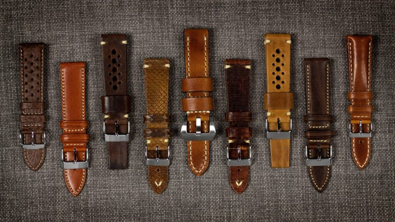 What types of leather watch strap are there?