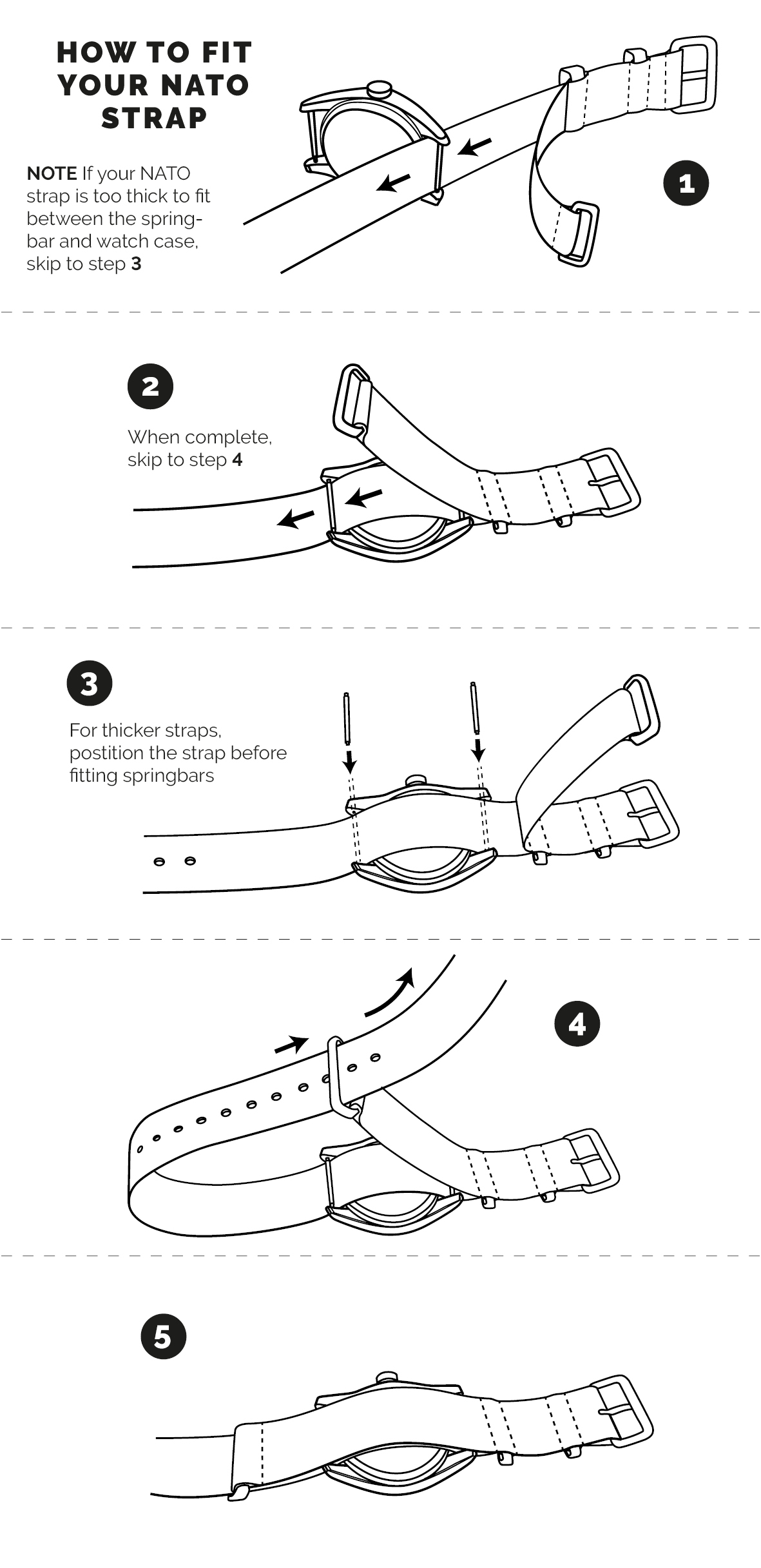 how to install a nato watch strap band watch gecko Made in USA Watches an error occurred
