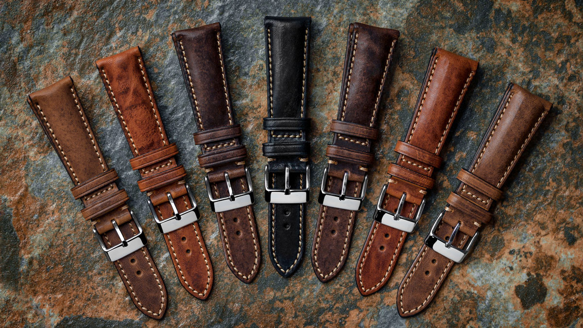 high quality padded leather watch straps from watchgecko