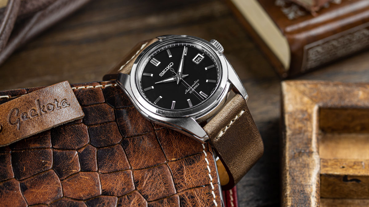 the Seiko SARB033 watch on a light brown leather strap from WatchGecko